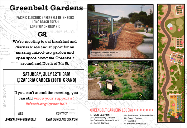 Greenbelt Gardens Neighborhood Breakfast Meeting Postcard