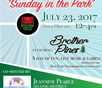 Concert – Sunday in the Park – July 23rd Noon-4pm