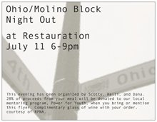 Dining out with neighbors – Ohio/Molino at 4th