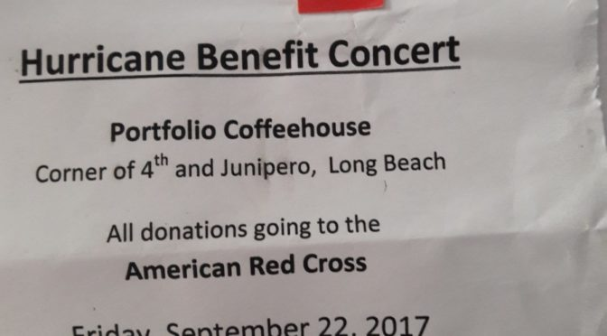 Hurricane Benefit in the Neighborhood September 22 at 4th & Junipero
