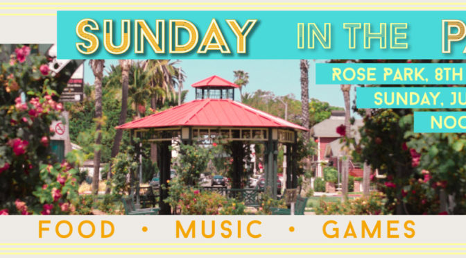 Save the date! Sunday in the Park, July 22nd noon to 4pm